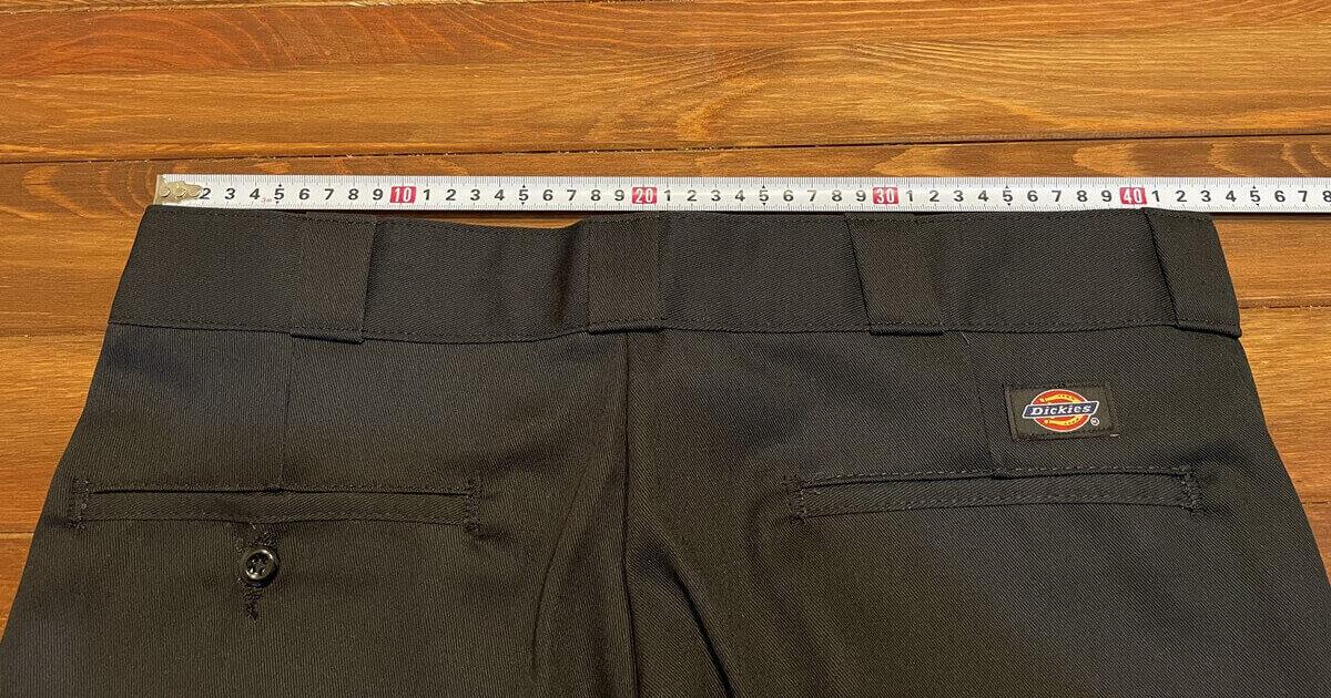 ディッキーズ874のウエストを測定